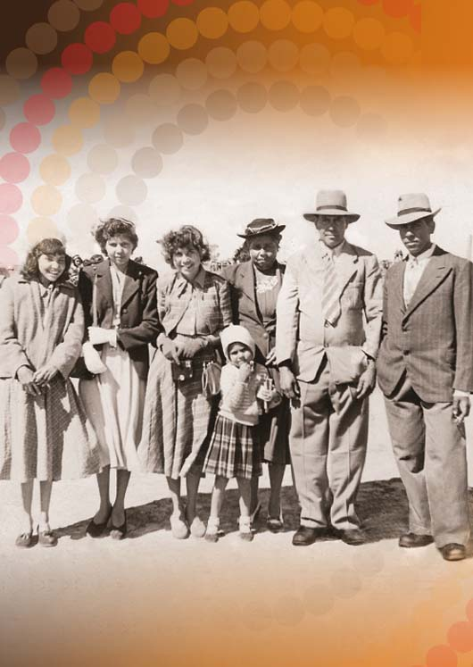 Family at the Brewarrina Rodeo 1952